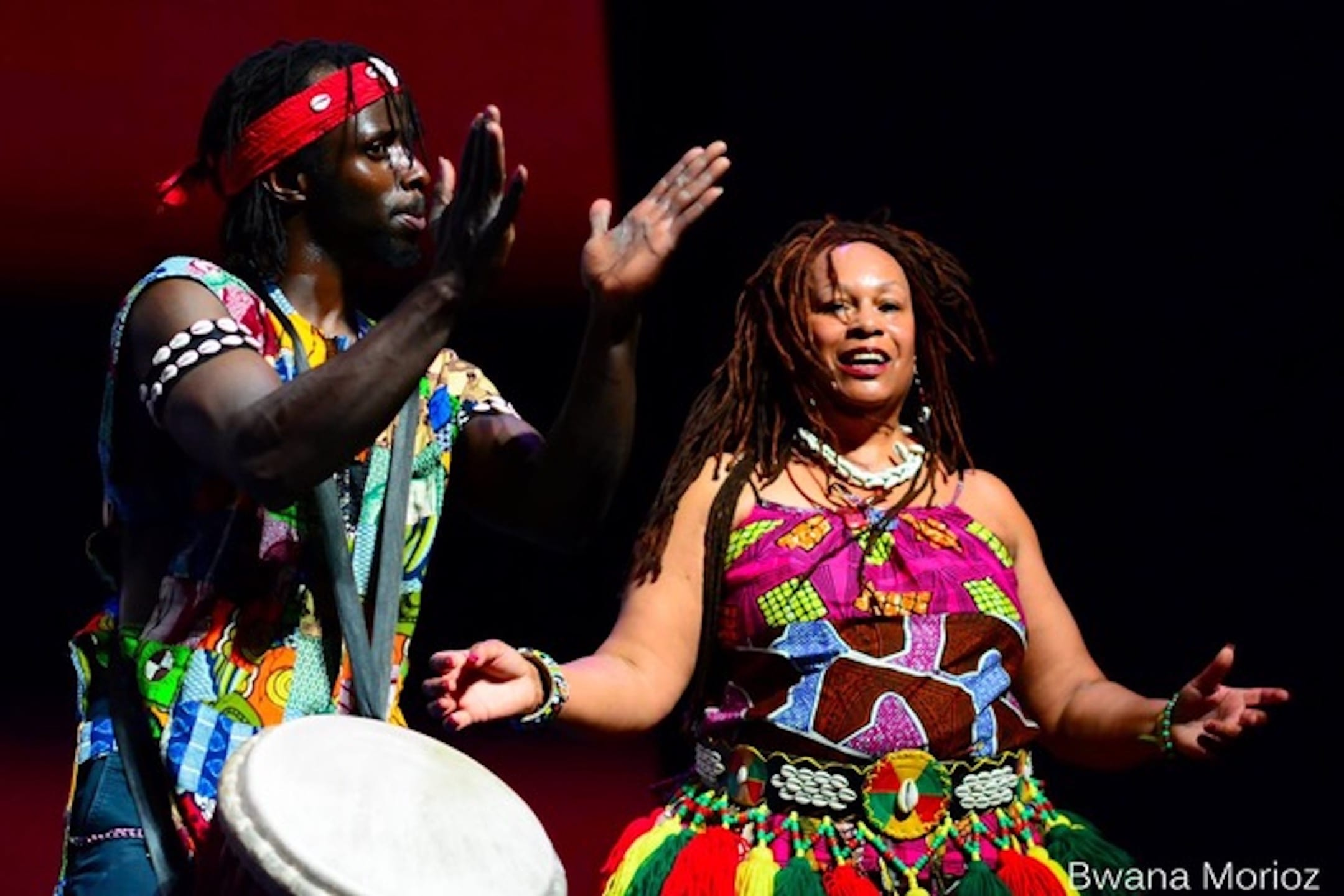 WEST AFRICAN DANCE with live drumming background image
